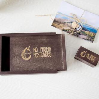 Деревянная коробка для фото 10х15