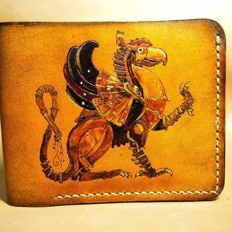Кожаный кошелек Пегас