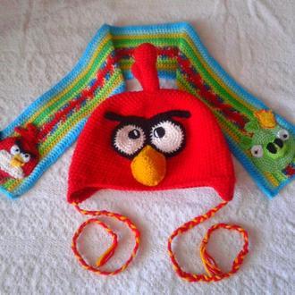 Зверокомплекты ручной работы (шапка+шарф) для Ваших деток