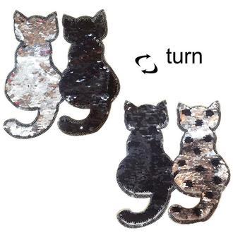 Нашивка котики Пайетки