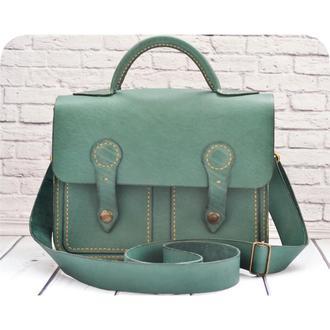 Модная кожаная сумка-портфель Кьяра