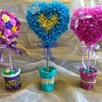 Топиарий - дерево любви, счастья, отличный подарок для Вас и Ваших близких!