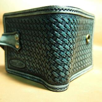 Кожаный кошелек кельтский под старину CMKn85