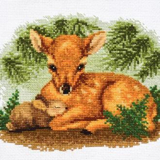 """Набор для вышивания крестиком """"Утро в лесу"""""""