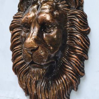 Голова льва - настенный декор