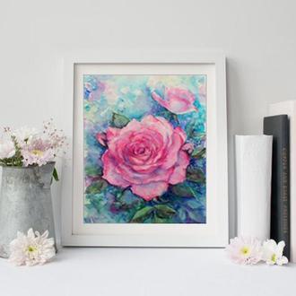 Авторская картина Розовые розы