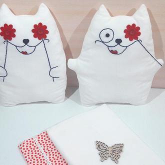 Подушка-игрушка в форме кота, кот-подушка, флисовая игрушка