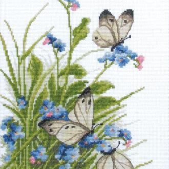 """Набір для вишивання хрестиком """"Метелики в квітах"""""""