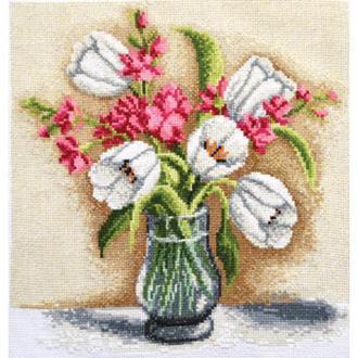"""Набор для вышивания крестиком """"Тюльпаны"""""""