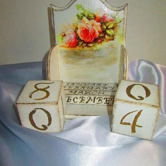 Вечный календарь Romance в стиле шебби-шик (Shabby chic)