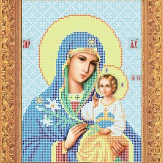 """Набір для вишивання бісером ікони """"Божа Матір Нев'янучий цвіт"""""""