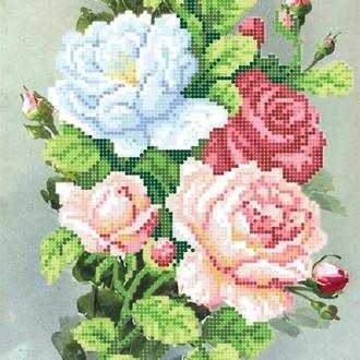 """Набор для вышивания бисером """"Утренние розы"""""""