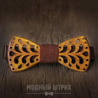 "Деревяннная галстук бабочка ""FOUNTAIN"""