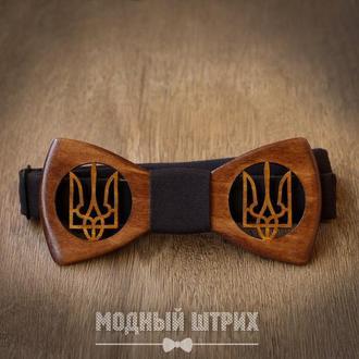 """Галстук бабочка деревянная """"UKRAINE"""""""