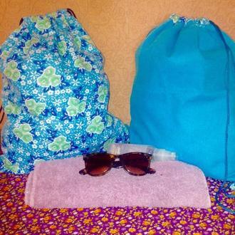 Рюкзак 2в1 двухсторонний городской, пляжный, сумка мешок