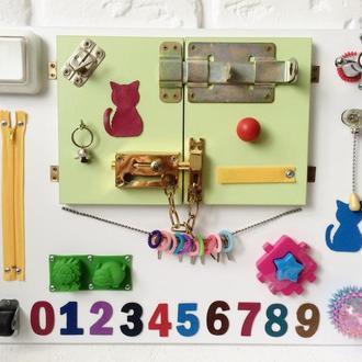 "Развивающая доска для детей ""Busy Board"", по методики Монтессори, размер 50х40"