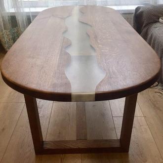 Оригинальный журнальный столик из массива дуба