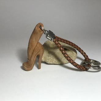 Брелок подвес деревянный ′Туфля′