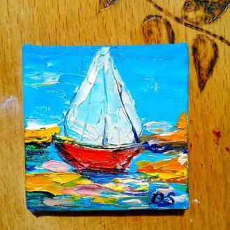 Яхта (миниатюра)