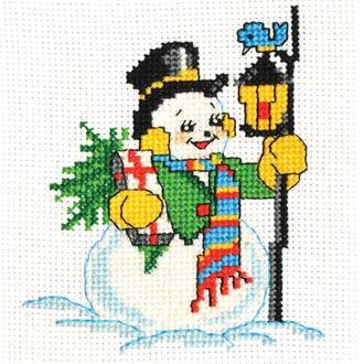 """Набор для вышивания крестиком """"Снеговик"""""""