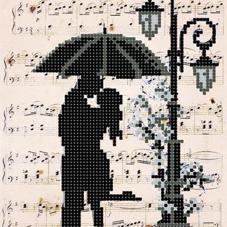 """Схема для вишивки бісером """"Романтік. Дощь"""""""
