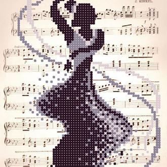 "Схема для вышивки бисером ""Романтик. Танец"""