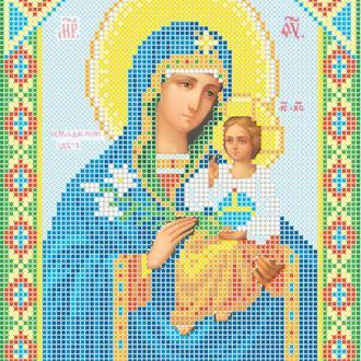 """Схема для вишивки бісером ікони """"Божа матір Нев'янучий цвіт"""""""