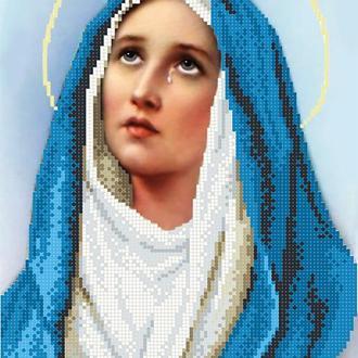 """Схема для вишивки бісером """"Діва Марія"""""""