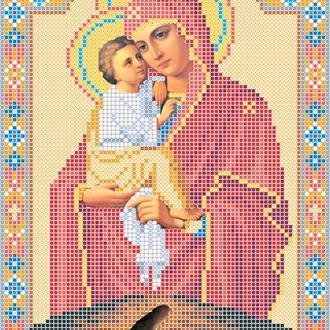 """Схема для вишивки бісером ікони """"Божа матір Почаївська"""""""