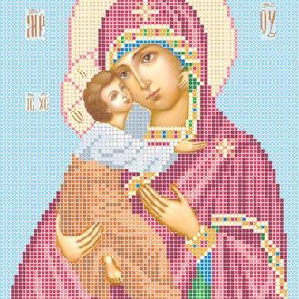 """Схема для вышивки бисером иконы """"Божья матерь Владимирская"""""""