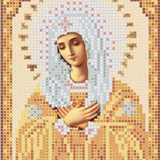 """Схема для вишивки бісером ікони """"Божа матір Розчулення А5"""""""