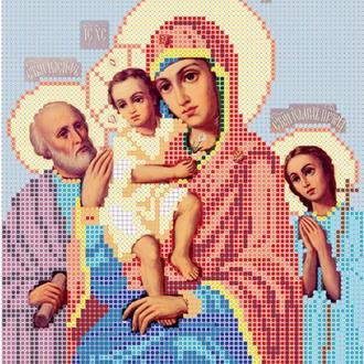 """Схема для вишивки бісером ікони """"Божа матір Три радості"""""""