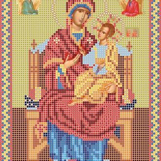 """Схема для вишивки бісером ікони """"Божа матір Всецариця"""""""