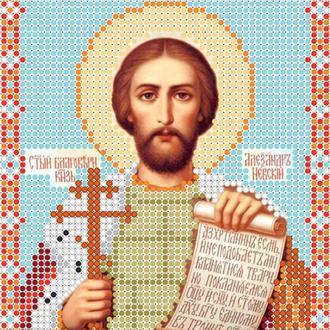 """Схема для вишивки бісером ікони """"Святий рівноапостольний князь Олександр"""""""