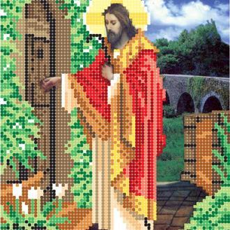 """Схема для вишивки бісером ікони """"Господь стучить у двері"""""""