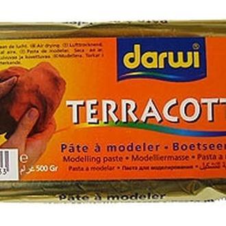 Масса самозатвердевающая (пластик) Darwi Terracota, терракотовая 0,5 кг