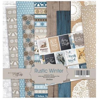 Бумага для скрапбукинга 20х20 см Rustic Winter, 10 листов