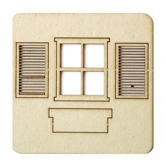 Чипборд Окно со ставнями 8,5х6,5 см