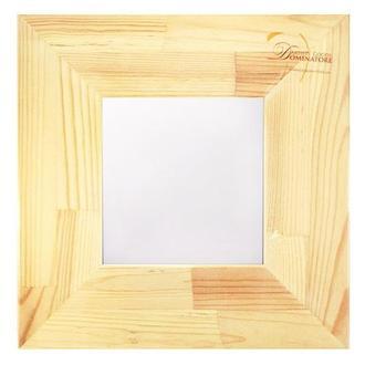 Рама для декора 29х29 см с зеркалом 15х15 см, сосна