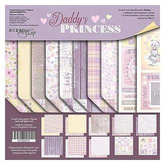 Бумага для скрапбукинга 30х30см Папина принцесса (Daddy's Princess) 10 листов