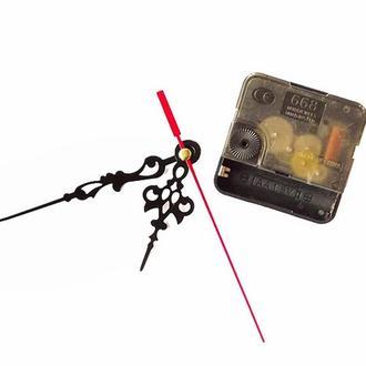 Часовой механизм с маленькою фигурной стрелкой №9