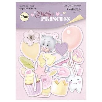 Набор высечек для скрапбукинга Папина принцесса Daddy's Princess 47 шт.