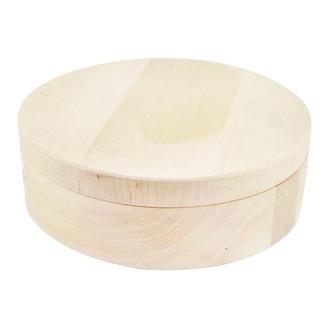 Шкатулка круглая 17 см, ольха