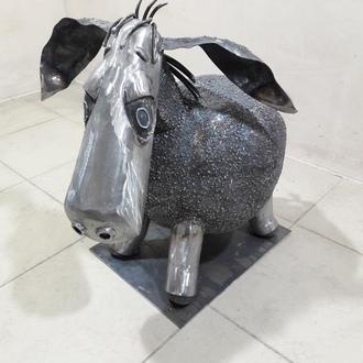 ослик Иа из металла