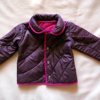 Куртка демисезонная на девочку 68-74 р-р