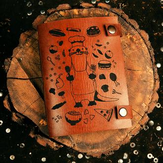 Скетчбук с кожаной обложкой