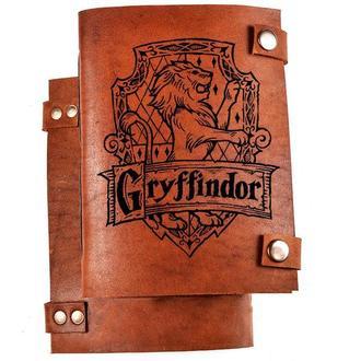 """Скетчбук с кожаной обложкой """"Gryffindor"""""""
