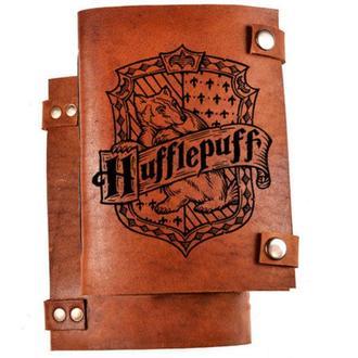 """Скетчбук с кожаной обложкой """"Hufflepuff"""""""