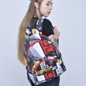 Рюкзак тканевый текстильный летний  New York