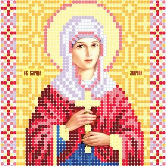 "Схема для вишивки бісером ікони ""Свята Великомученица Марина"""
